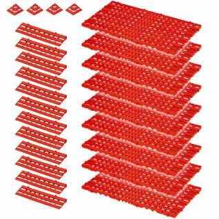 25-teiliges Set, 3, 4 m² Bodenrost, rot, aus lebensmittelechtem PE-HD Kunststoff