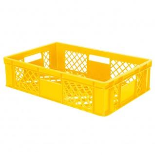 Stapelbehälter / Eurobehälter mit 4 Durchfassgriffen, LxBxH 600 x 400 x 150 mm, gelb - Vorschau