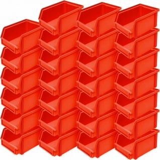 "27x Sichtbox"" CLASSIC"" FB 4, LxBxH 230/200x140x122 mm, Inhalt 3, 7 Liter, rot"