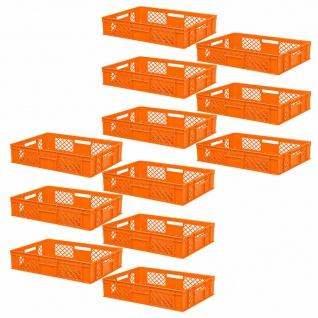 12 Euroboxen/Bäckerkiste, LxBxH 600x400x150 mm, PE-HD, orange, lebensmittelecht