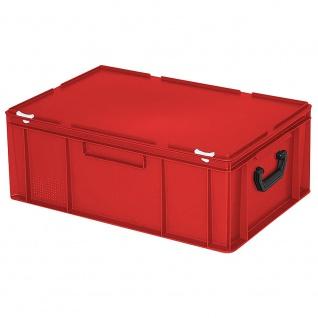 Aufbewahrungskoffer/Kunststoffkoffer, LxBxH 600x400x230 mm, 43 Liter, rot, PE-HD