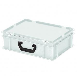 Aufbewahrungskoffer / Kunststoffkoffer, LxBxH 400 x 300 x 130 mm, 11 Liter, weiß