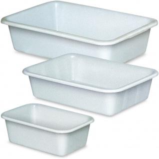 Set mit 3 Kunststoffwannen, lebensmittelecht, 1x 12 Liter, 1x 25 Liter, 1x 40 Liter