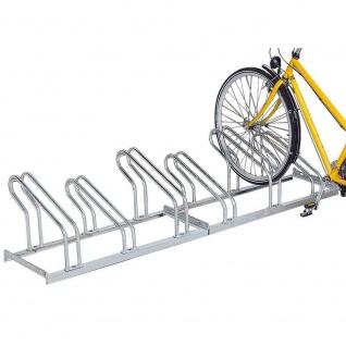 Fahrradständer, feuerverzinkt, für 6 Fahrräder, einseitige Nutzung
