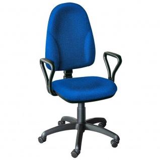 Drehstuhl mit Armlehnen, Sitzhöhenverstellung 400-530 mm, blau, Restposten