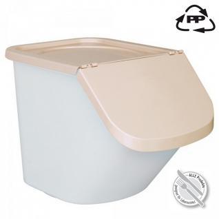40 Liter Vorratsbehälter / Zutatenbehälter mit Deckel, weiß/beige - Vorschau