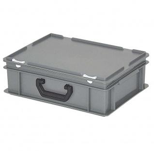 Aufbewahrungskoffer / Kunststoffkoffer, LxBxH 400 x 300 x 130 mm, 11 Liter, grau