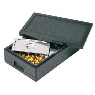 Thermobox GN1/1 mit Deckel, LxBxH 600 x 400 x 145 mm, Inhalt 14 Liter, anthrazit
