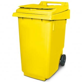 360 Liter DIN Mülltonne, HxBxT 1100 x 600 x 875 mm, gelb