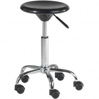 Rollhocker / Drehhocker aus ABS-Kunststoff, Sitz-Ø 320 mm, Tragkraft 100 kg