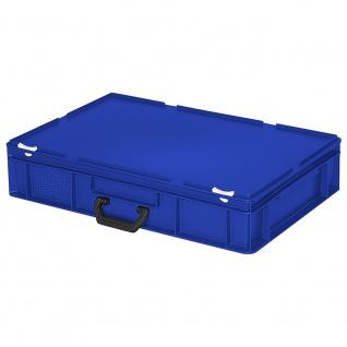 Mehrzweckkoffer / Eurokoffer, Farbe blau, LxBxH 600 x 400 x 130 mm - Vorschau