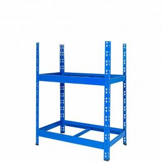 Reifenregal, 2 Ebenen, Stecksystem, BxTxH 1100x500x1200 mm, Reifen bis Ø 680 mm