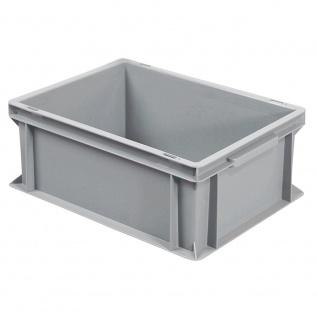 Eurobehälter mit 2 Griffleisten, LxBxH 400 x 300 x 170 mm, grau