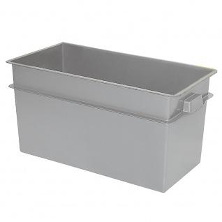 Volumenbox, LxBxH 790 x 400 x 410 mm, grau, Boden/Wände geschlossen, 2 Muschelgriffe