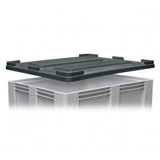 Stapeldeckel für Volumenbox/Großbox, LxB 1200 x 1000 mm, Farbe anthrazit (55181)