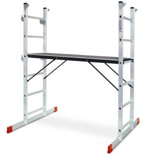 Leitergerüst, Arbeitshöhe bis 3 m, Plattform BxL 1200 x 410 mm, Tragkraft 135 kg