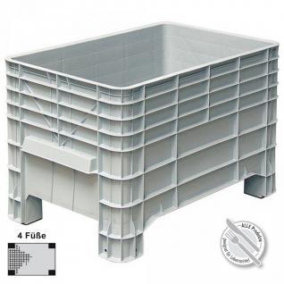 Großbox aus Kunststoff, lebensmittelecht, 4 Füße, 276 Liter, LxBxH 1030 x 630 x 670 mm