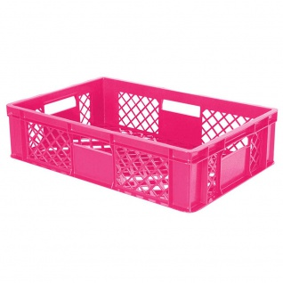 Bäckerkiste / Eurobehälter mit 4 Durchfassgriffen, LxBxH 600 x 400 x 150 mm, pink