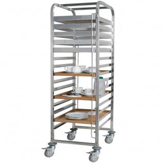 Tablettwagen aus Edelstahl, für 15 Tabletts o. Backbleche, BxTxH 620x470x1735 mm