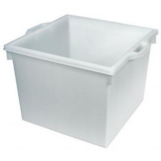Kunststoffwanne, lebensmittelecht, 60 Liter, LxBxH 475 x 475 x 370 mm, weiß