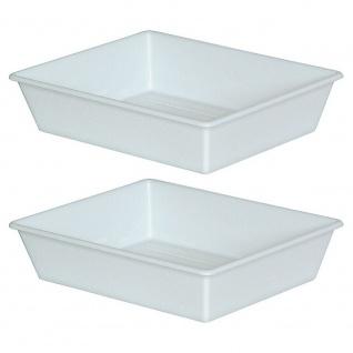 2 Lebensmittelwanne, Inhalt 26, 5 Liter, LxBxH 840/715 x 645/520 x 155 mm, weiß