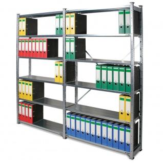 Fachbodenregal mit 12 Böden, Stecksystem, BxTxH 2105x315x2000 mm, glanzverzinkt