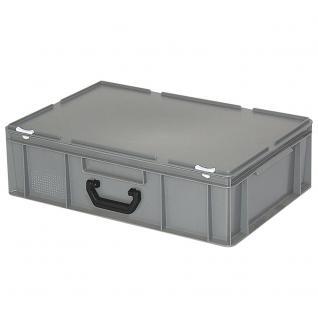 Mehrzweckkoffer / Kunststoffkoffer, LxBxH 600 x 400 x 180 mm, Farbe grau (55013)