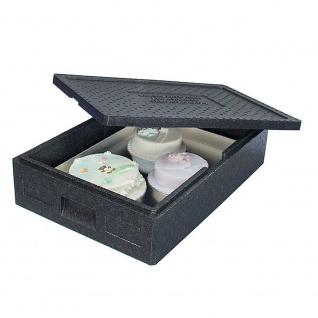 Thermobox mit Deckel, 21 Liter, LxBxH 685 x 485 x 140 mm, Farbe anthrazit