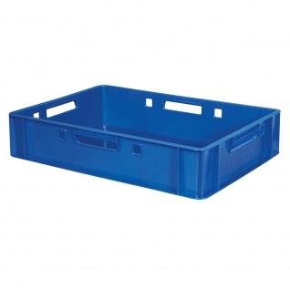 Fleischkasten / Eurobehälter E1, LxBxH 600 x 400 x 125 mm, lebensmittelecht, blau