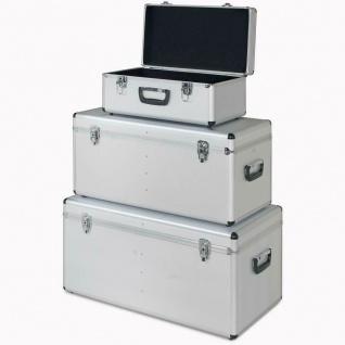 3er Set Alurahmen Box, Inh. 25 Liter, 65 Liter, 100 Liter, silber, abschließbar