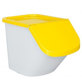 Zutatenspender, Inhalt 40 Liter, LxBxH 610 x 430 x 450 mm, Behälter weiß, Deckel gelb - Vorschau