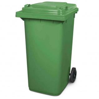 Mülltonne, Inhalt 240 Liter, HxBxT 1075 x 580 x 730 mm, Farbe grün