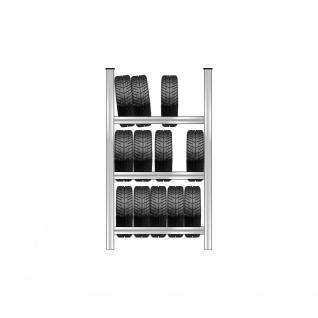 Reifenregal mit 3 Reifenebenen, verzinkt, Stecksystem, BxTxH 1130x425x2000 mm