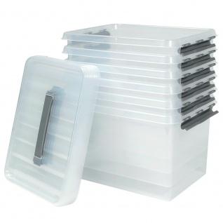 6 Klarsichtboxen mit Clipdeckel, transparent, LxBxH 400x300x260 mm, 22 Liter, PP