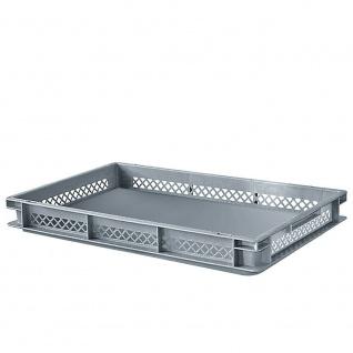 10 Bäckerkorb mit geschlossenem Boden, LxBxH 600 x 400 x 75mm, grau