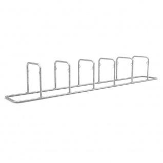 Fahrradständer mit Einstellplatz für 12 Fahrräder, Länge 5570 mm, verzinkt
