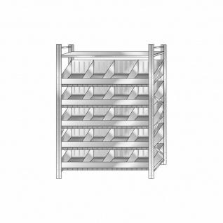 Schüttgutregal, Stecksystem, verzinkt, HxBxT 2000x1290x525 mm, 5 Ebenen