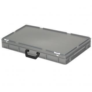 Mehrzweckkoffer / Kunststoffkoffer, Farbe grau, LxBxH 600 x 400 x 85 mm (55008)