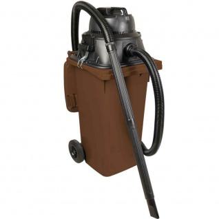 Nass- / Trockensauger / Industriesauger 1100 Watt, mit 120 Liter DIN Tonne braun