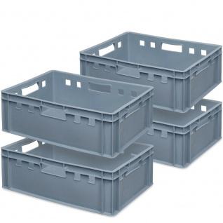 lebensmittelecht 600 x 400 x 200 mm grün 4x Fleischkasten // Eurobehälter E2