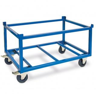 Fahrgestell für Paletten, hohe Ausführung, 1220 x 820 x 790 mm, Tragkraft 1000 kg