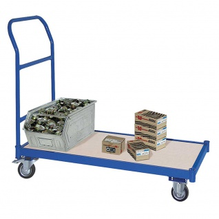 Magazinwagen, 2 Bock- u 2 Lenkrollen mit Bremse, 1070 x 500 x 890 mm, 18 kg