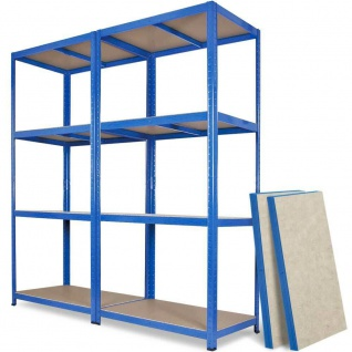 Schwerlastregal, BxTxH 1800x500x1800 mm, Tragkraft 265 kg/Boden, blau RAL 5010