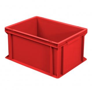 Eurobehälter mit 2 Griffleisten, LxBxH 400 x 300 x 220 mm, rot