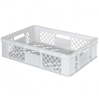 Bäckerkiste / Eurobehälter mit 4 Durchfassgriffen, LxBxH 600 x 400 x 150 mm, weiß