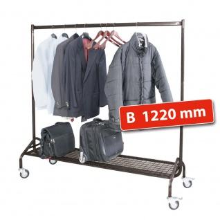 Kleiderständer / Mobile Garderobe, HxBxT 1680 x 1220 x 495 mm, Farbe anthrazit