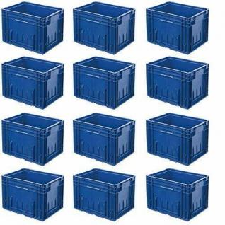 12 VDA R-KLT 4329 Behälter, LxBxH 400x300x280 mm, 22 Liter, blau