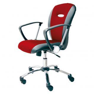 Bürodrehstuhl Sonex mit Armlehnen, Farbe rot/schwarz, Restposten (59287) - Vorschau