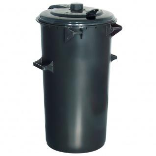 Rundmülltonne / System-Mülleimer aus Kunststoff, 110 Liter, anthrazitgrau