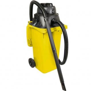 Industriesauger mit 120 Liter DIN Tonne gelb, 1100Watt, inkl Steckdosenanschluss
